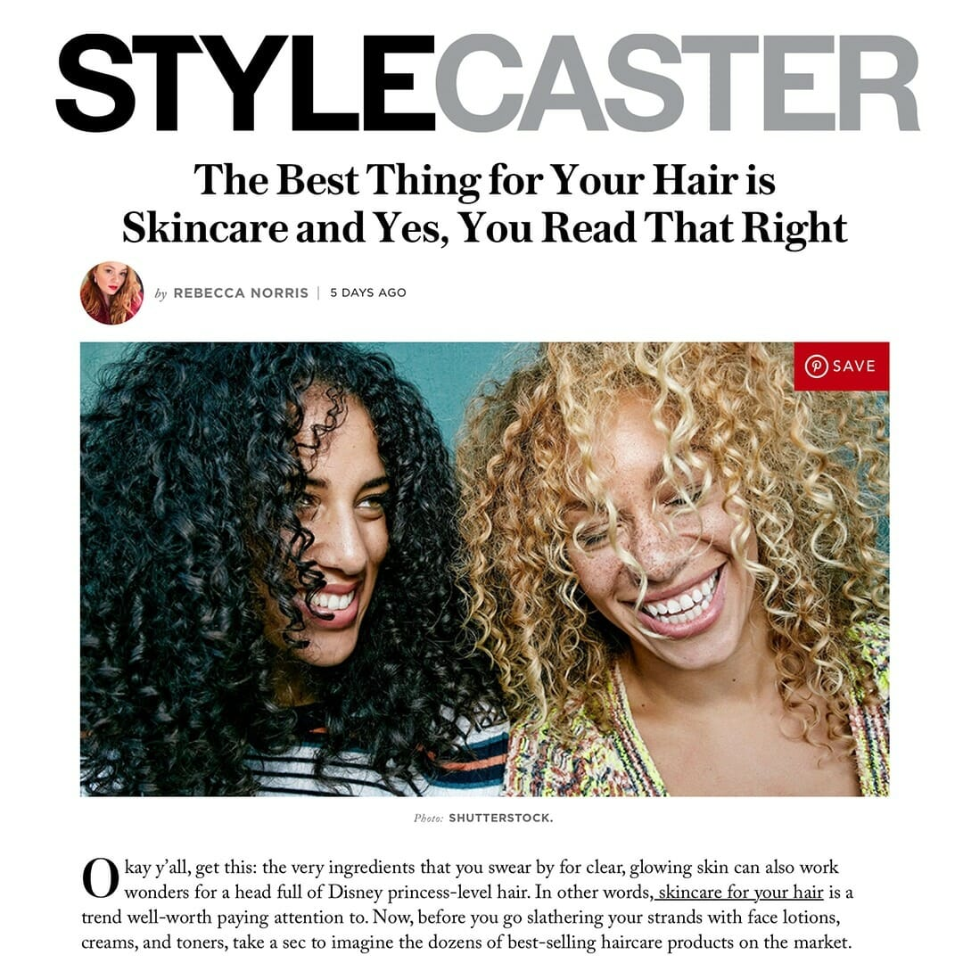 Hush & Hush DeeplyRooted featured in StyleCaster Hair is Skincare